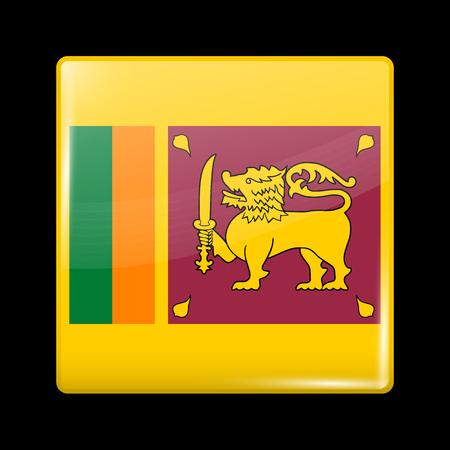 sri lankan flag: Flag of Sri Lanka. Glassy Icon Square Shape. This is File from the Collection Flags of Asia