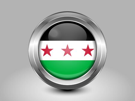 residential district: Flag of Syria. Metal Round Icons. This is File from the Collection Asian Flags