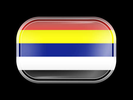 taiwanese: Taiwan Variant Flag. Rectangular Shape with Rounded Corners. This Flag is One of a Series of Glass Buttons