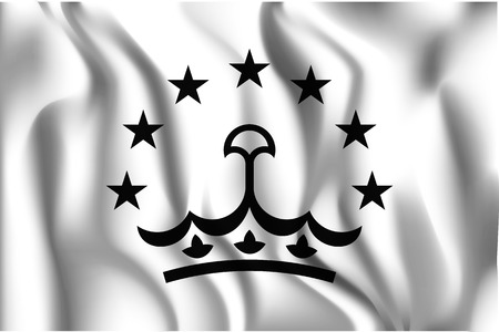 tajikistan: Tajikistan Variant Flag. Rectangular Shape Icon with Wavy Effect