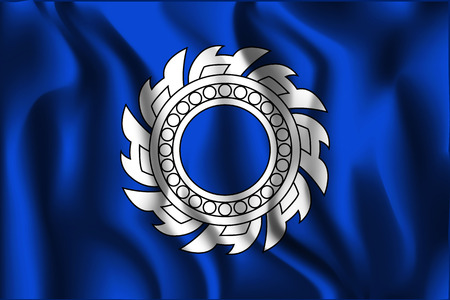 variant: Thailand Variant Flag. Rectangular Shape Icon with Wavy Effect Illustration