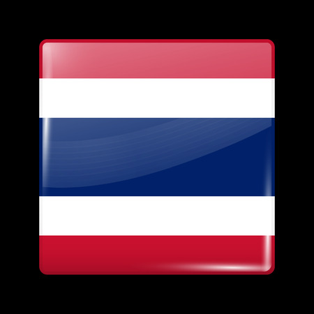residential district: Flag of Thailand. Glassy Icon Square Shape. This is File from the Collection Flags of Asia