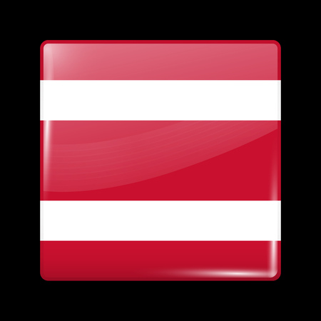 variant: Thailand Variant Flag. Glassy Icon Square Shape. This is File from the Collection Flags of Asia Illustration