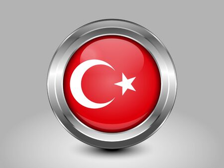 variant: Turkey Variant Flag. Metal Round Icons. This is File from the Collection Asian Flags