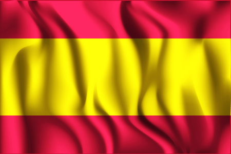 socialist: Vietnam Variant Flag. Rectangular Shape Icon with Wavy Effect