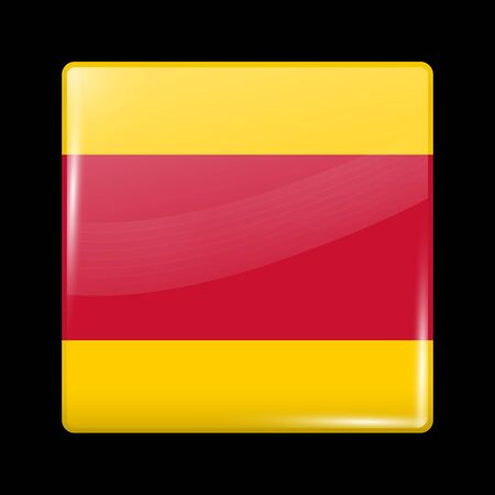 residential district: Vietnam Variant Flag. Glassy Icon Square Shape. This is File from the Collection Flags of Asia Illustration