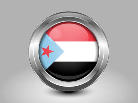 south asian: Flag of South Yemen. Metal Round Icons. This is File from the Collection Asian Flags