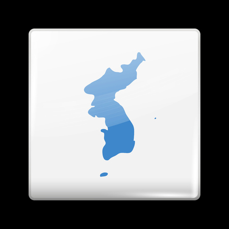 unification: Flag of United Korea. Glassy Icon Square Shape. This is File from the Collection Flags of Asia Illustration