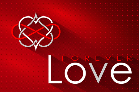 Intertwined Hearts.  Love Forever Holidays background