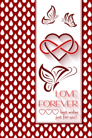 intertwined: Intertwined Hearts. Love Forever Holidays background