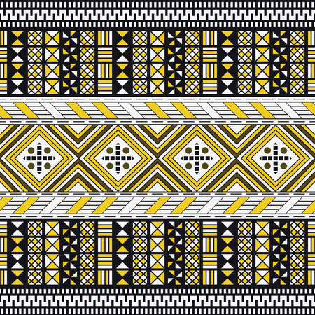 darbuka: Tribal Seamless Pattern. Ethnic Background. Arabic or African Style Illustration