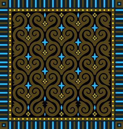 ethno: Abstract Vintage Seamless Patterns. Vector Background in Arabic Style