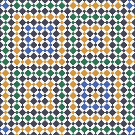 repetition: Moroccan Pattern. Mosaic Tiles. Illustration