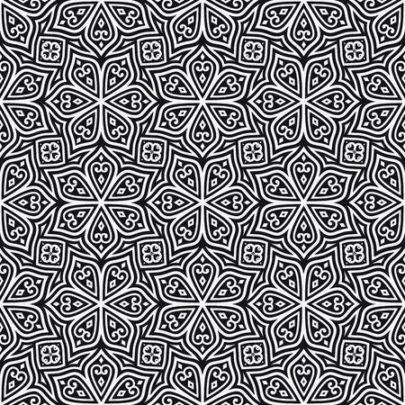 square shape: Batik Seamless Pattern. Ethnic Background. Square Shape