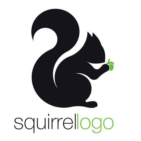 Eekhoorn Silhouet eekhoorn. Sjabloonbedrijf. Bedrijfsontwerp Vector Illustratie