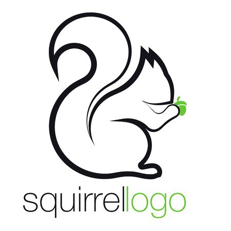 Squirrel . Outline Squirrel. Template Company. Company Design
