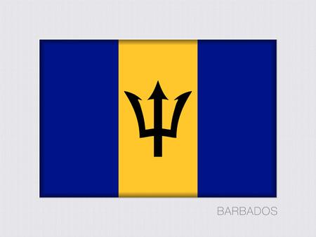 bandera de barbados. el escudo tiene bandera ilustración. dos