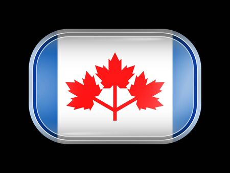 The Canadian Pearson Pennant. Rectangular Shape with Rounded Corners. This Flag is One of a Series of Glass Flaf Icons