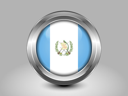 metal button: Flag of Guatemala. Metal and Glass Round Icon. This is File from the Collection North America Flags