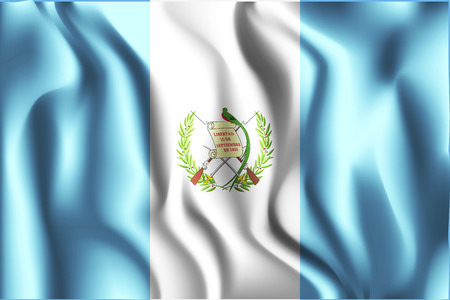 bandera de guatemala: Flag of Guatemala. Rectangular Shaped Icon with Wavy Effect. Aspect Ratio 2:3 Vectores