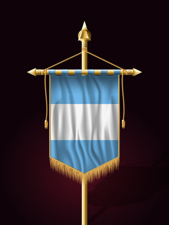 guatemalan: Flag of Guatemala. Festive Banner Vertical Flag with Flagpole. Wall Hangings with Gold Tassel Fringing