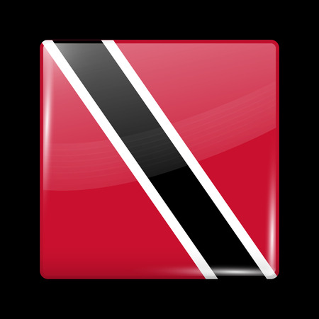 trini: Flag of Trinidad and Tobago. Glossy Icon Square Shape. This is File from the Collection Flags of North America