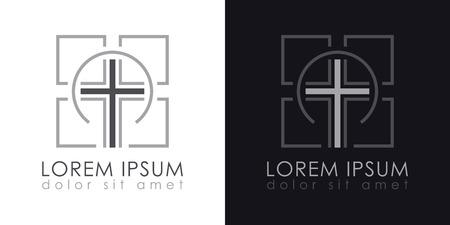 Cross Logo. Christian symbols. Design Vector Template