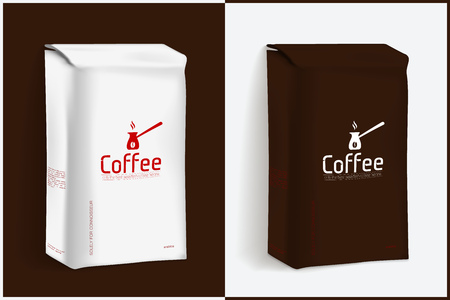 Vacuum Package of Coffee. Vector Template for Your Design and Branding Illustration