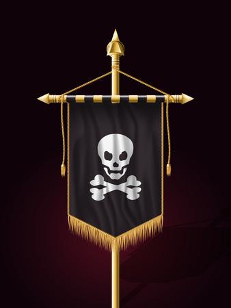 Jolly Roger. Jack Pirate Flag. Vector Format
