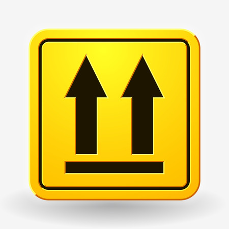 Dit Side Up-pictogram. Dit pad naar boven. Verpakkingssymbool voor levering van lading