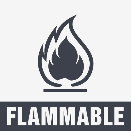 Flammable Symbol. Fire Icon. Packaging Symbol for Delivery of Cargo Illustration