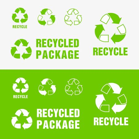 Recycled and Packaging Symbol. Sign for Delivery of Cargo