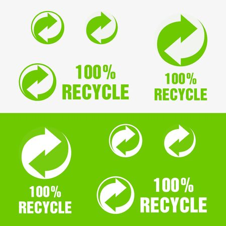 Recycle Symbol. Sign of Recycled Material. Update Icon