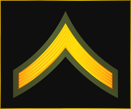 corps: Military Ranks and Insignia. Stripes and Chevrons of Army. Private