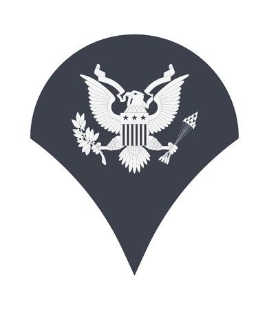 군사 등급 및 휘장. 줄무늬와 쉐브론 육군. 전문가 일러스트