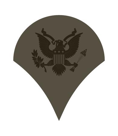軍のランクおよび記章。ストライプと軍の山形。スペシャ リスト