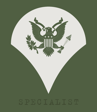 us air force: Military Ranks and Insignia. Stripes and Chevrons of Army. Specialist