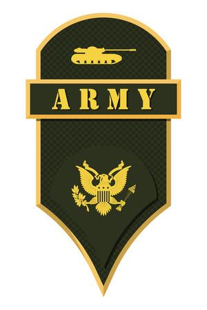 Militärische Ränge und Insignien. Streifen und Chevrons der Armee. Spezialist Vektorgrafik