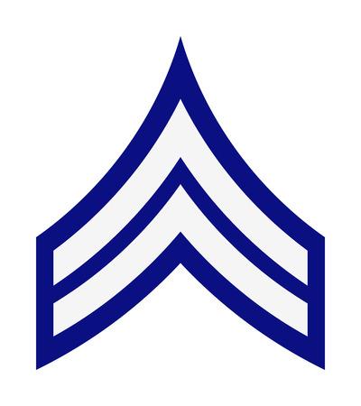 Militärische Ränge und Insignien. Streifen und Chevrons der Armee. Korporal