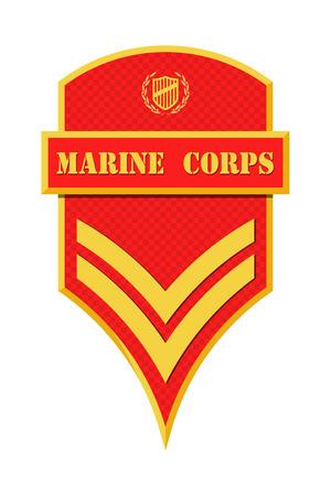軍のランクおよび記章。ストライプと軍の山形。肉体のベクトル図