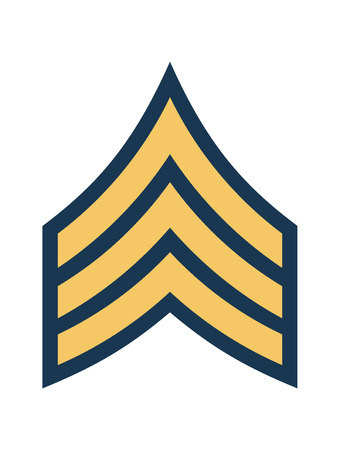 Military Ranks and Insignia. Stripes and Chevrons of Army. Sergeant Ilustrace