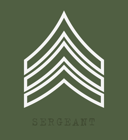 Military Ranks and Insignia. Stripes and Chevrons of Army. Sergeant  イラスト・ベクター素材