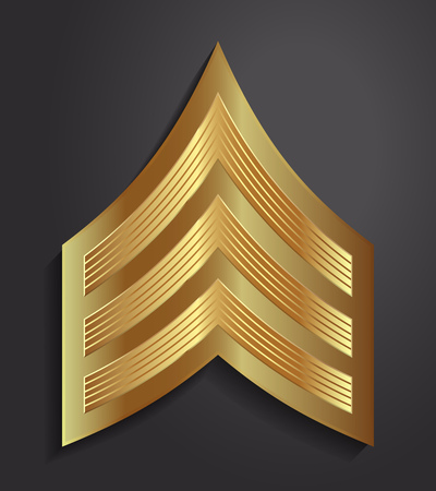 Military Ranks and Insignia. Stripes and Chevrons of Army. Sergeant 矢量图像