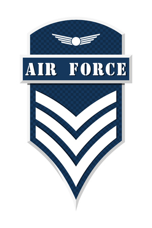 us air force: Military Ranks and Insignia. Stripes and Chevrons of Army. Sergeant Illustration