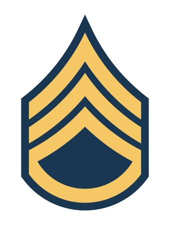 Military Ranks and Insignia. Stripes and Chevrons of Army. Staff Sergeant  イラスト・ベクター素材