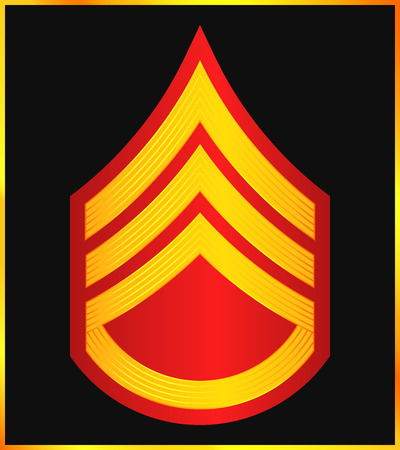 corps: Military Ranks and Insignia. Stripes and Chevrons of Army. Staff Sergeant Illustration