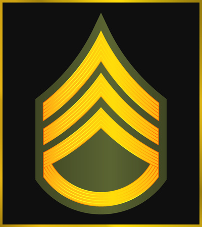 Military Ranks and Insignia. Stripes and Chevrons of Army. Staff Sergeant Illustration