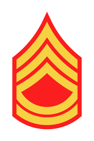 Military Ranks and Insignia. Stripes and Chevrons of Army. Sergeant First Class  イラスト・ベクター素材