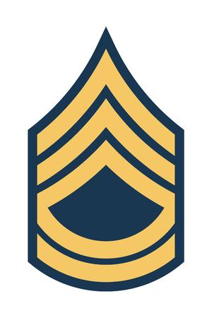군사 등급 및 휘장. 줄무늬와 쉐브론 육군. 상급 생전
