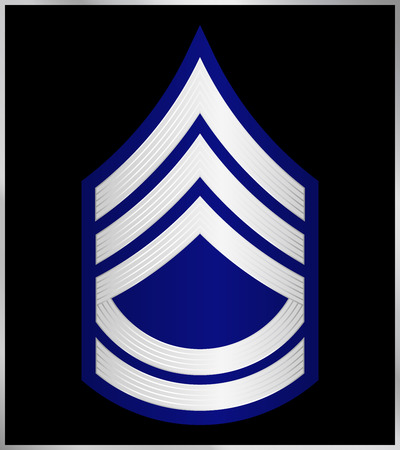 corps: Military Ranks and Insignia. Stripes and Chevrons of Army. Sergeant First Class Illustration